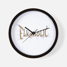 Elkaholic for the Elk Hunter  Wall Clock
