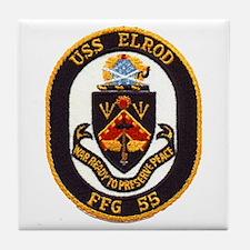 USS ELROD Tile Coaster