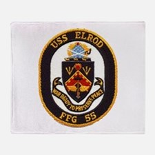 USS ELROD Throw Blanket