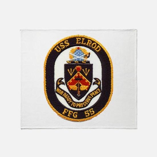 USS ELROD Throw Blanket