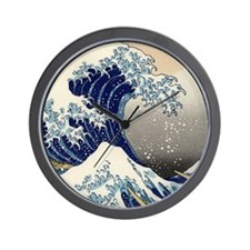 Kanagawa oki nami ura.jpg Wall Clock