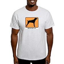 Mountain Cur (simple-orange) T-Shirt