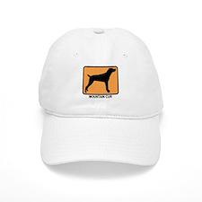 Mountain Cur (simple-orange) Baseball Cap
