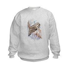 Watercolor Great Gray Owl Bird Nature Art Jumpers
