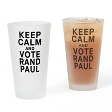 Keep Calm and Vote Rand Paul Drinking Glass