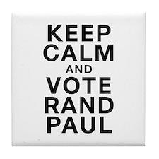Keep Calm and Vote Rand Paul Tile Coaster