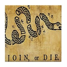 Join or Die Bandana Tile Coaster