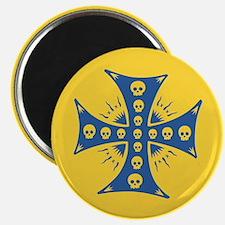 Skull Tease Cross Magnet