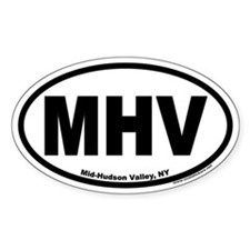 Mid-Hudson Valley, NY Oval Decal