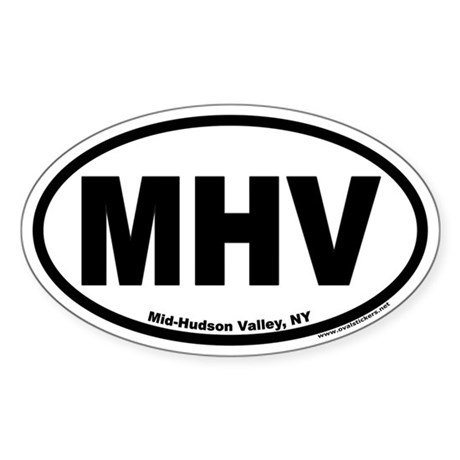 Mid-Hudson Valley, NY Oval Sticker
