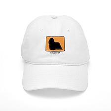 Komondor (simple-orange) Baseball Cap
