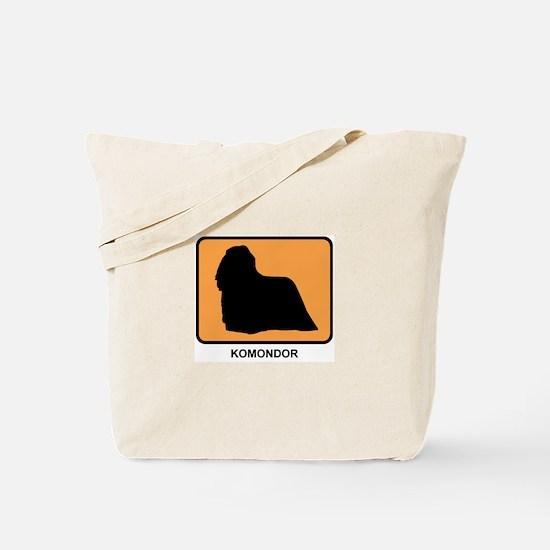 Komondor (simple-orange) Tote Bag