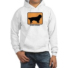 Sussex Spaniel (simple-orange Hoodie