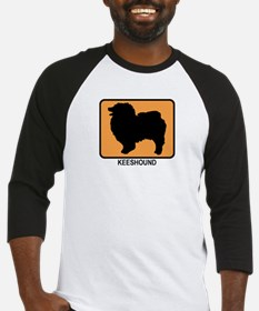 Keeshound (simple-orange) Baseball Jersey