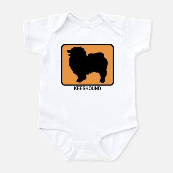 Keeshound (simple-orange) Infant Bodysuit