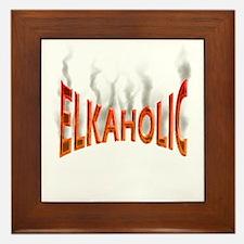 Elkaholic Elk t-shirts and gi Framed Tile
