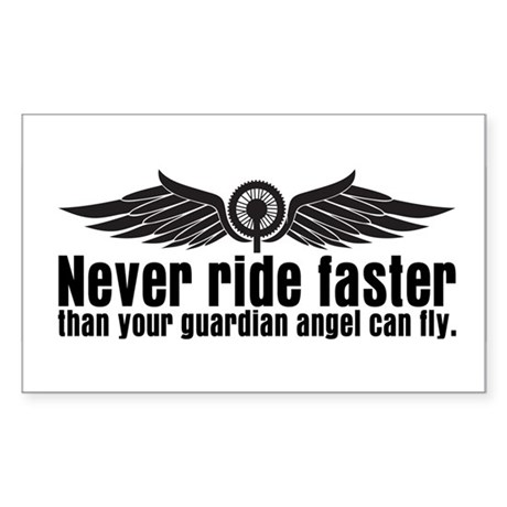 Never Ride Faster Rectangle Sticker