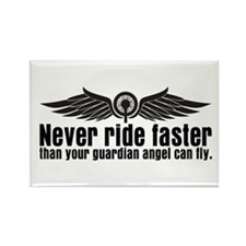 Never Ride Faster Rectangle Magnet