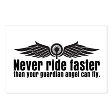 Never Ride Faster Postcards (Package of 8)