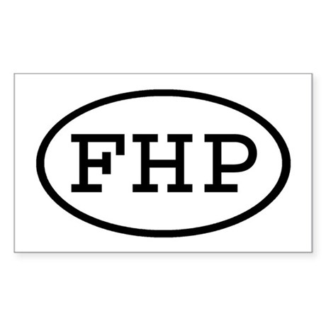 FHP Oval Rectangle Sticker