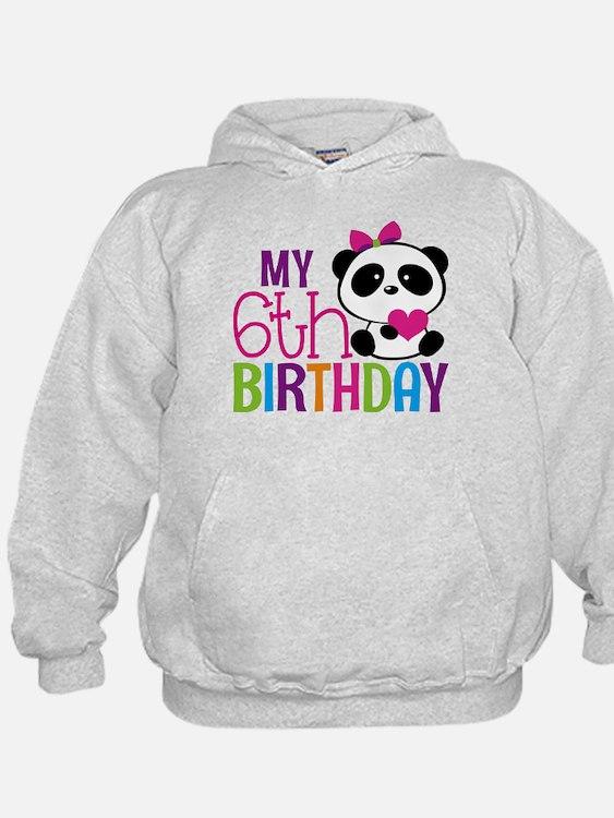 Panda 6th birthday Sweatshirt