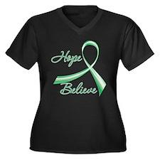 Liver Disease Hope Believe Plus Size T-Shirt