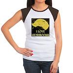 I Love Mushrooms Women's Cap Sleeve T-Shirt