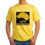 I Love Mushrooms Yellow T-Shirt