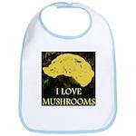 I Love Mushrooms Bib