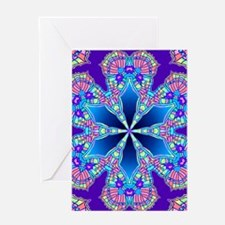 butterfly wing kaleidoscope Greeting Cards