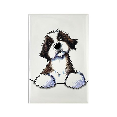 Pocket St. Bernard II Rectangle Magnet (10 pack)