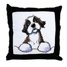 Pocket St. Bernard II Throw Pillow