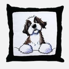 Pocket St. Bernard II Throw Pillow