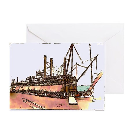 Old River Boat Cards (Pk of 10)