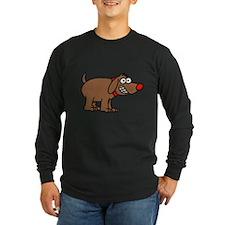 Brown Dog Long Sleeve T-Shirt