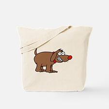Brown Dog Tote Bag