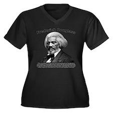 Douglass: Wa Women's Plus Size V-Neck Dark T-Shirt