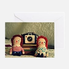 Cute Raggedy ann and andy dolls Greeting Card