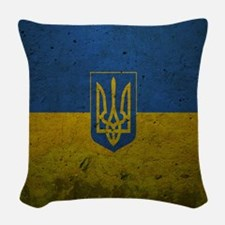 Ukrainian Flag Woven Throw Pillow