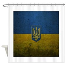 Ukrainian Flag Shower Curtain