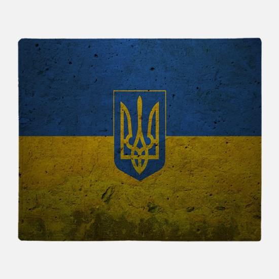 Ukrainian Flag Throw Blanket