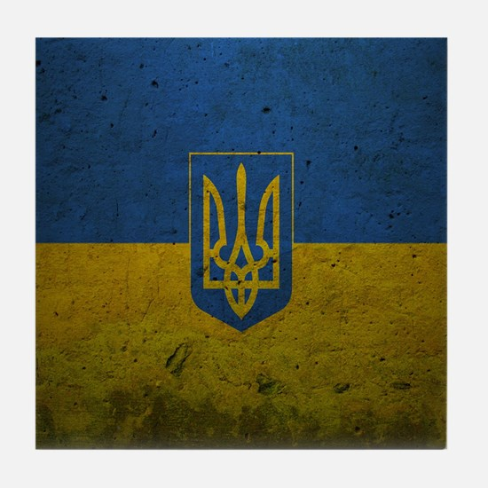 Ukrainian Flag Tile Coaster