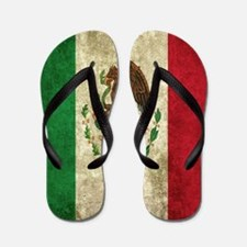 Mexican Flag Flip Flops