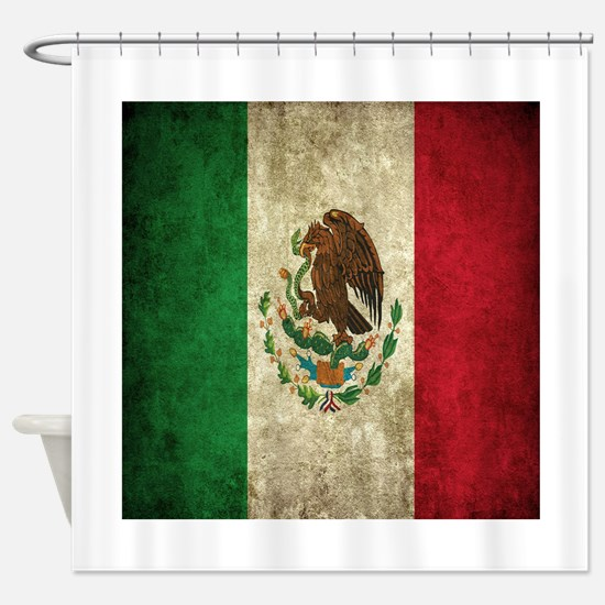Mexican Fabric Shower Curtain Liner