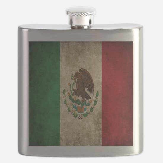 Mexican Flag Flask