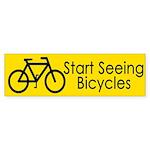 Start Seeing Bicycles (bumper sticker)