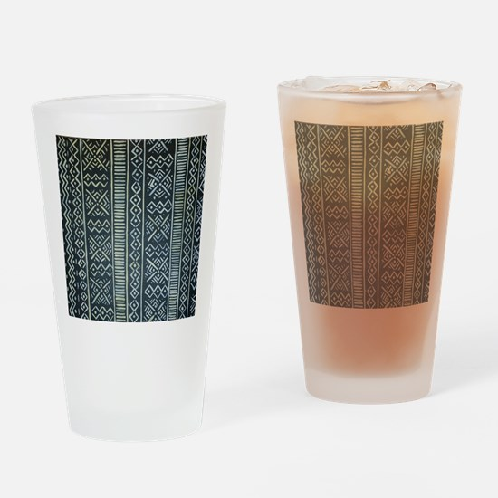 Mud Cloth Inspired Drinking Glass