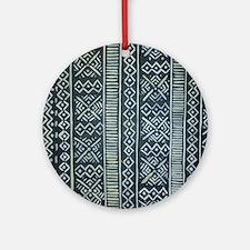 Mud Cloth Inspired Ornament (Round)