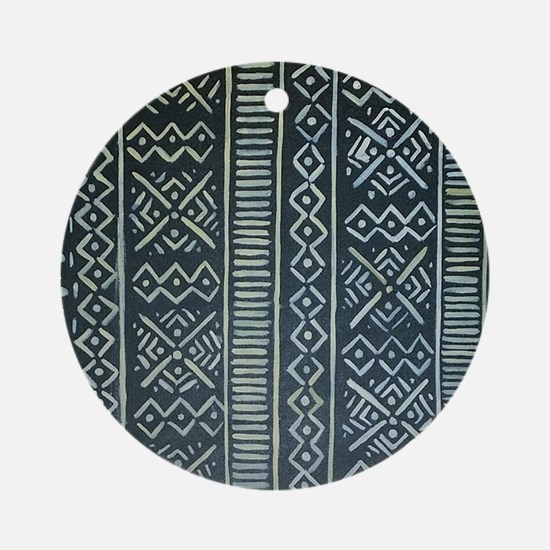 Mud Cloth Inspired Ornament (Round)