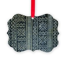 Mud Cloth Inspired Ornament